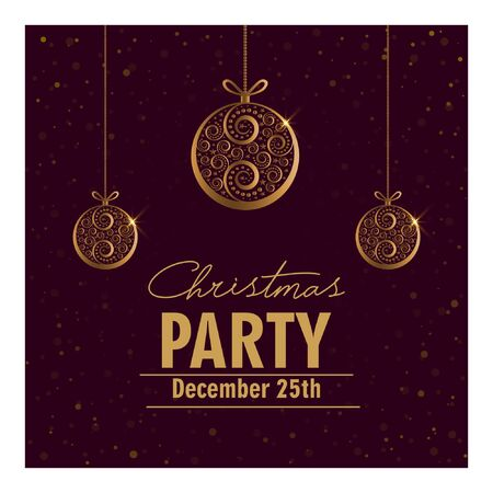 Christmas party invitation card.