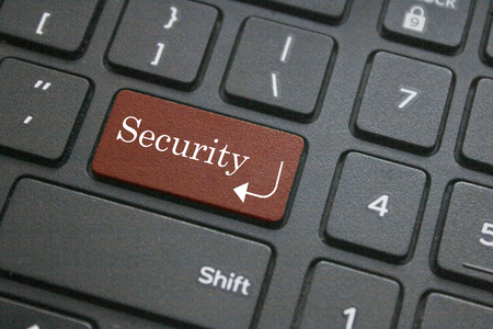 logon: Close up of Security button on black computer keyboard
