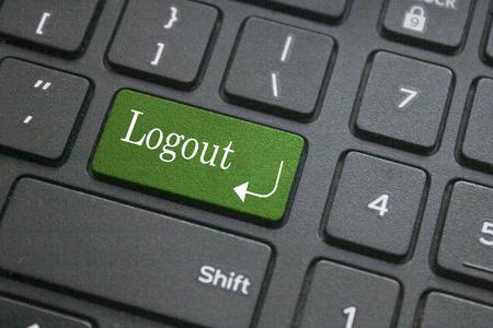 logout: Logout button on computer keyboard