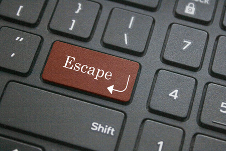 escape key: Close up of escape button on computer keyboard