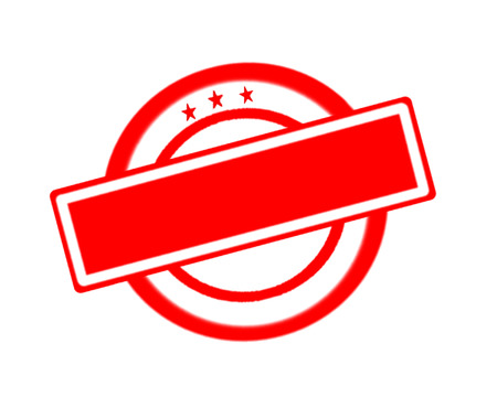 poststempel: Vector of empty red rubber stamp