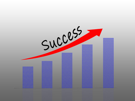 Bar Graph, Success, Concept