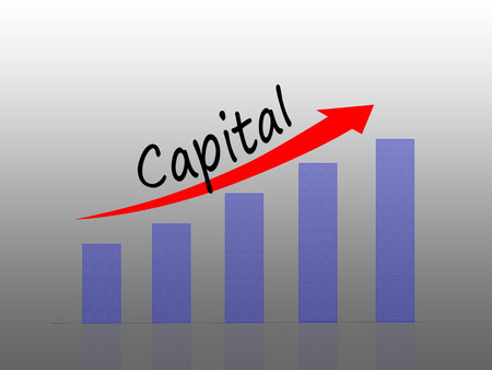 Illustration of Capital growth concept, Bar Graph