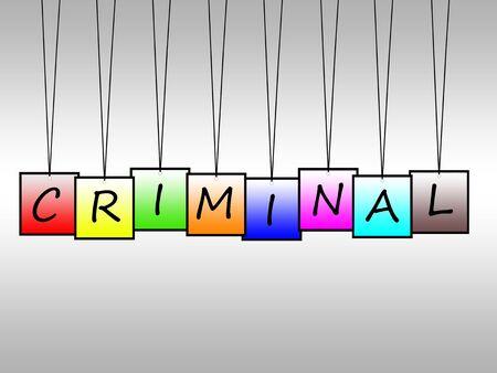 culprit: Illustration of criminal written on hanging tags
