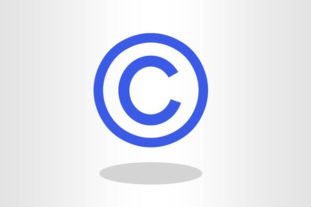 Illustration of copyright sign Stock Photo