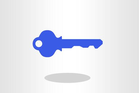 Illustration of key against plain background
