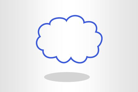 Illustration of cloud on plain background
