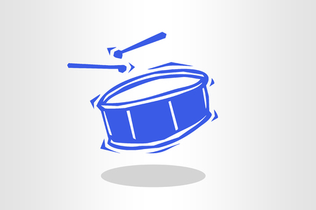 Illustration of drums Stock Photo