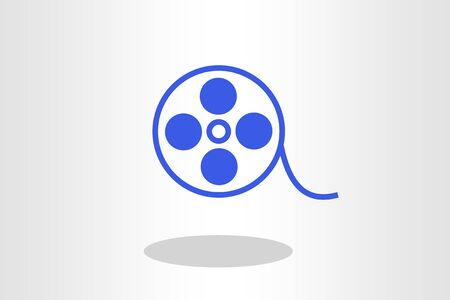 Film roll - illustration blue cinema and movie design element or icon
