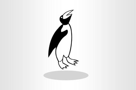 flightless: Illustration of penguin Stock Photo