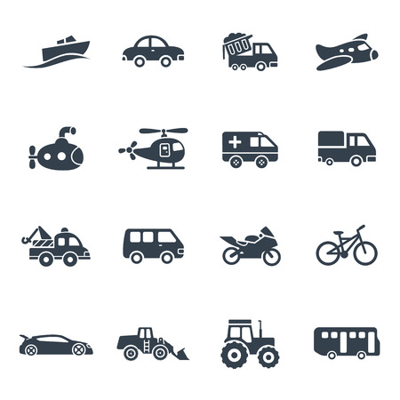 earth mover: Vehicle vector icons collection