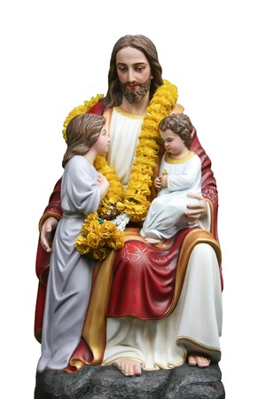 The love of Jesus with children Stock Photo