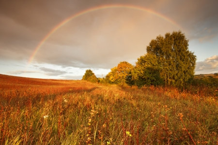 Rainbow  Kashubia, Poland photo