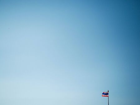 flick: Blue sky with thai flag. Stock Photo