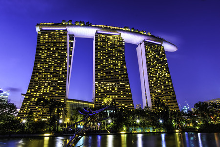 merlion: Marina Bay Sands from Gardens By The Bay
