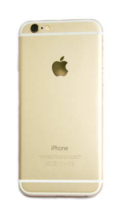 Back view of New Apple iPhone 6 isolated