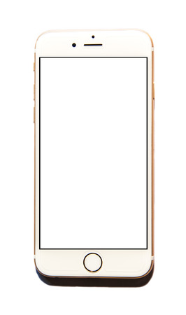 New Apple iPhone 6 isolated with white screen display