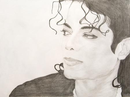 마이클 잭슨 연필 스케치 에디토리얼