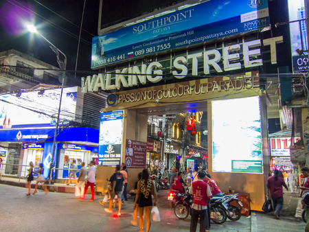 Walking Street of Pattaya Thailand