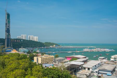 Pattaya city and beach Aerial view