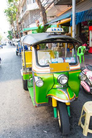 Tuktuk Taxi scooter, Bangkok Thailand