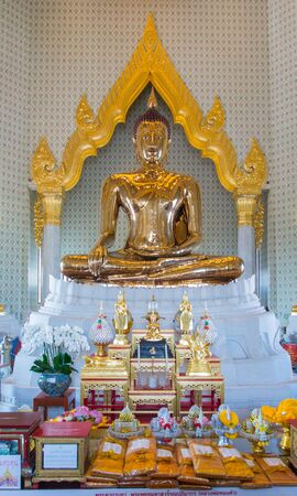 Golden Buddha in temple wat traimit  in Thailand