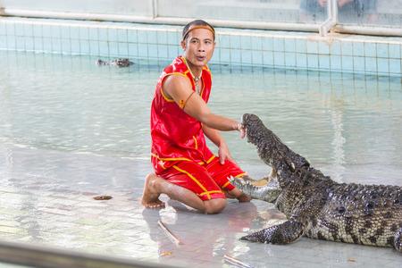 crocodile show at Samutprakan Crocodile Farm