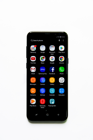 Samsung Galaxy S8 smartphone with infinity display Editorial