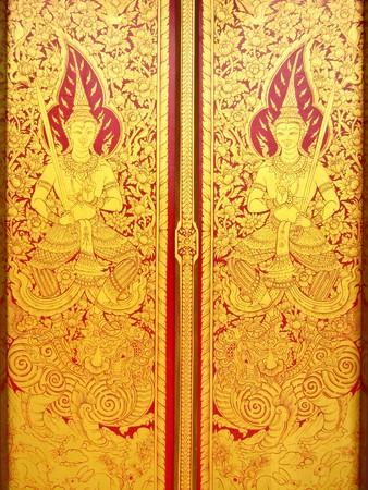door art in chiangmai, thailand