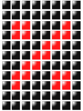 Symbol percent from red square box photo