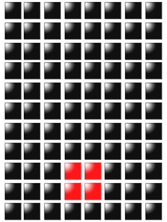 Symbol point from red square box Stock Photo - 10831072