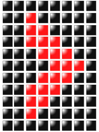 Symbol arrow right from red square box photo