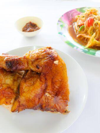 gill: chicken gill and papaya salad