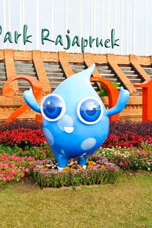 horticultural: CHIANGMAI THAILAND - DECEMBER 4 : Mascots name Num Sai (the clean  water) show in The International Horticultural Exposition Ratchaphruek 2011. Even on 14 december 2011 - 14 march 2012. On December 4,2011 in Chiangmai, Thailand.