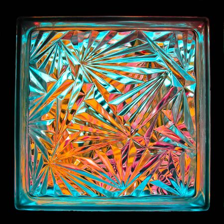 color of glass block photo