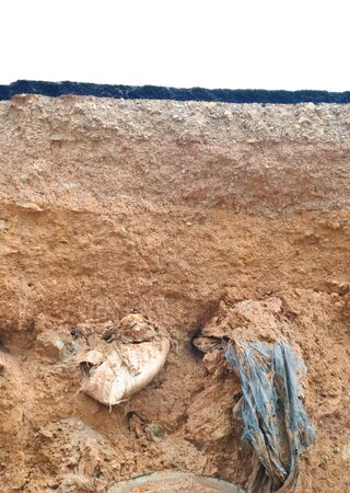 landslip: Destroyed road landslide