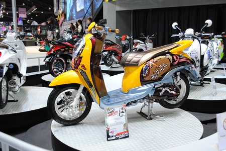 NONTHABURI, THAILAND - MARCH 30: The Motorbkie show  in the 32nd Bangkok International Motor Show on March 30, 2011 in Nonthaburi, Thailand.