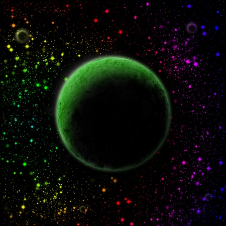 abstract planet in outer space