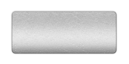 metal banner on white isolated