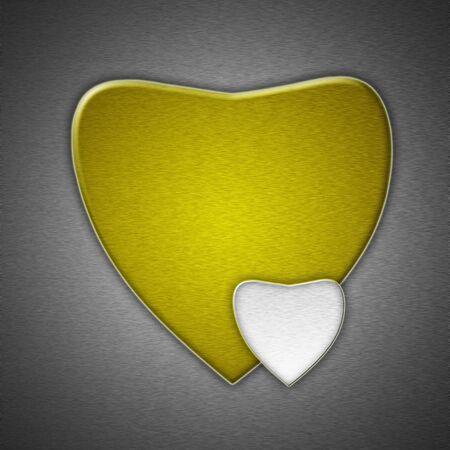 heart metal photo