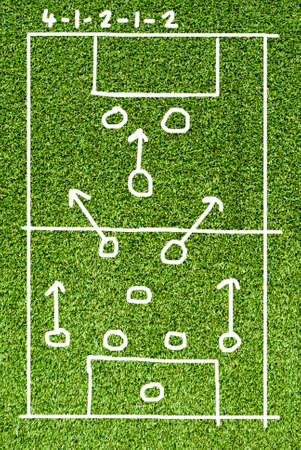 Soccer plan  on Artificial Grass Field Texture Stock Photo - 11964591