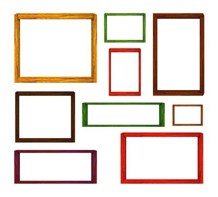 wood frames set Stock Photo - 11964659