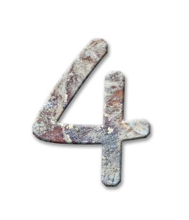 Wooden alphabet letter,4