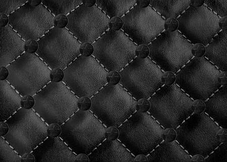 seamless leather: star in circle leather background Stock Photo