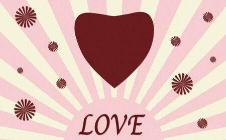 vintage heart paper craft with love photo