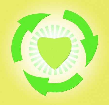 papercraft recycle for heart with love