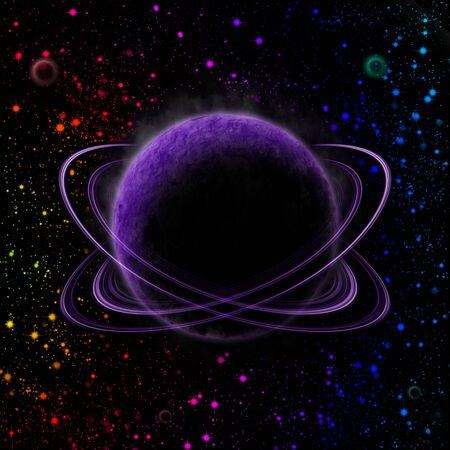 abstract planet in outer space Stock Photo - 12331470