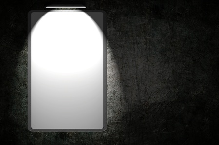 Empty advertisement with lights Stock Photo