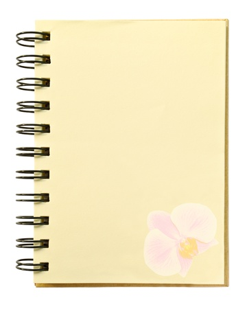 orchid texture on blank notebook photo