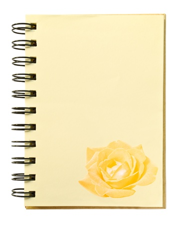rose texture on blank notebook photo